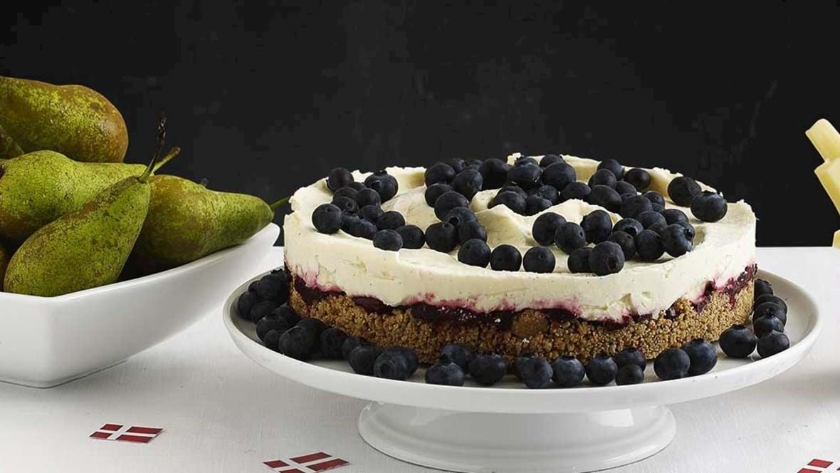 Cheesecake med blåbær
