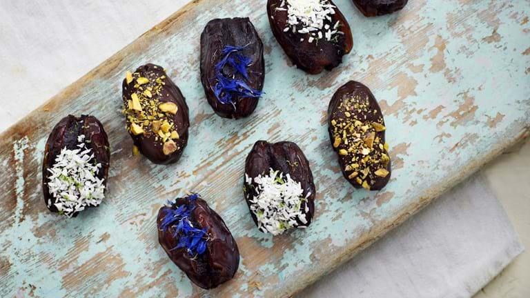 Dadler med chokolade