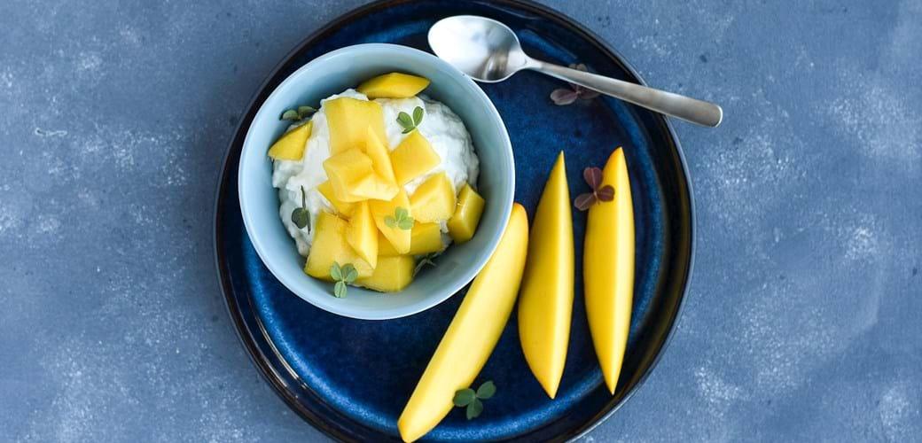 Frisk riscreme med yoghurt og citrus