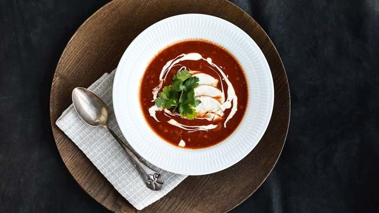 Spicy kyllingesuppe