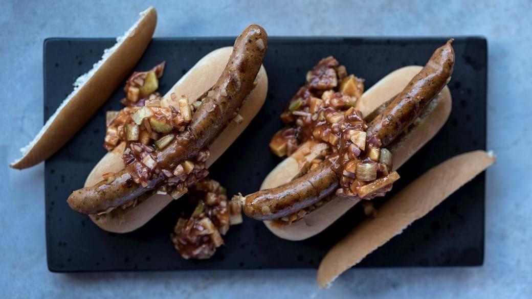 Hjemmelavede hotdogs med smag af jul