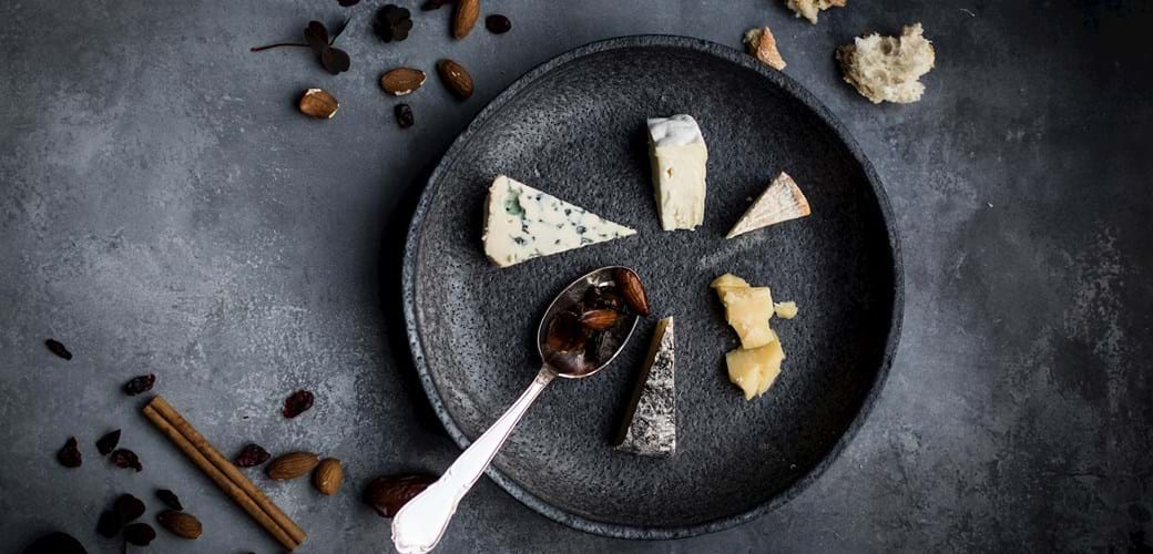 Julekrydret garniture til ostebordet