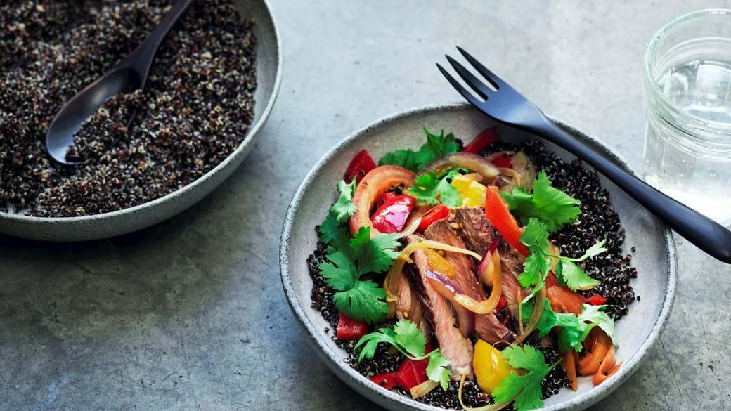 Lomo saltado med quinoa