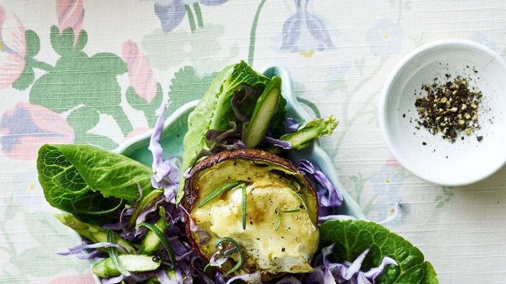 Bagt avocado med brieost