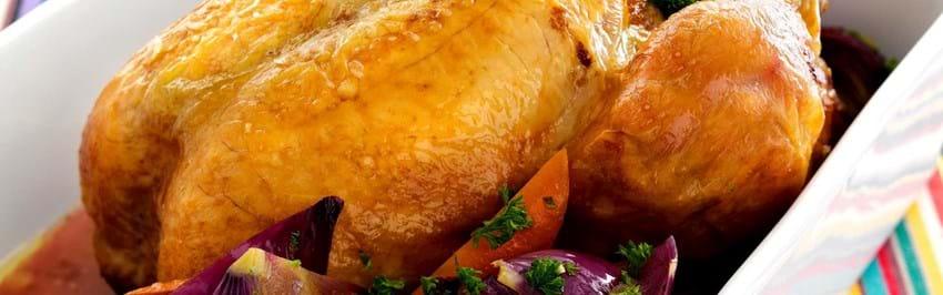 Helstegt kylling med urter
