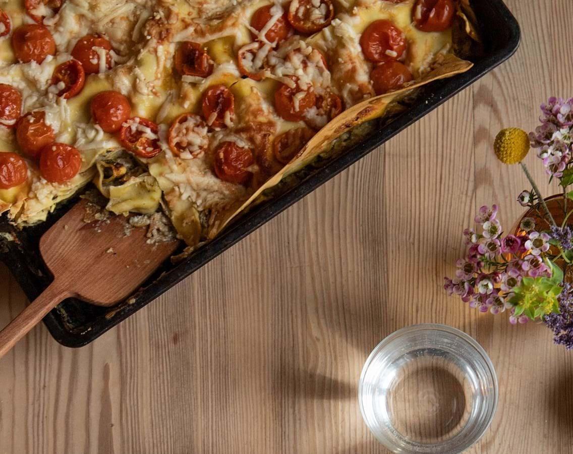 Grøntsagslasagne med parmesan