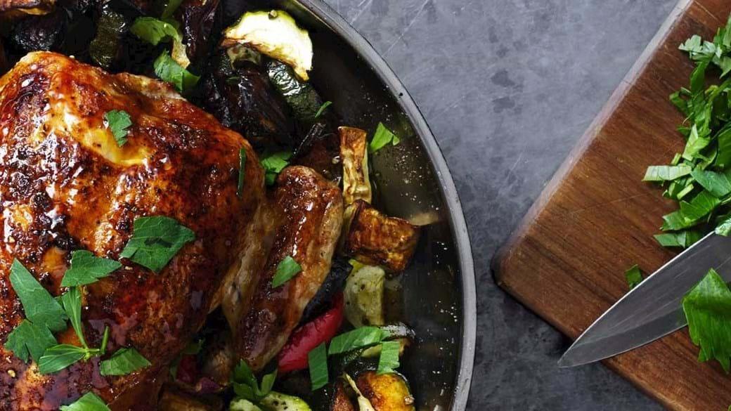 Kylling med grøntgarniture
