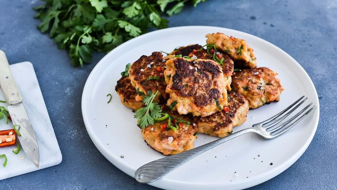 Spicy fishcakes