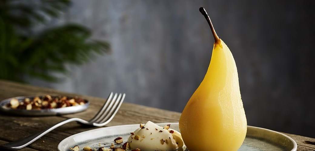 Citron og kardemommesyltede pærer