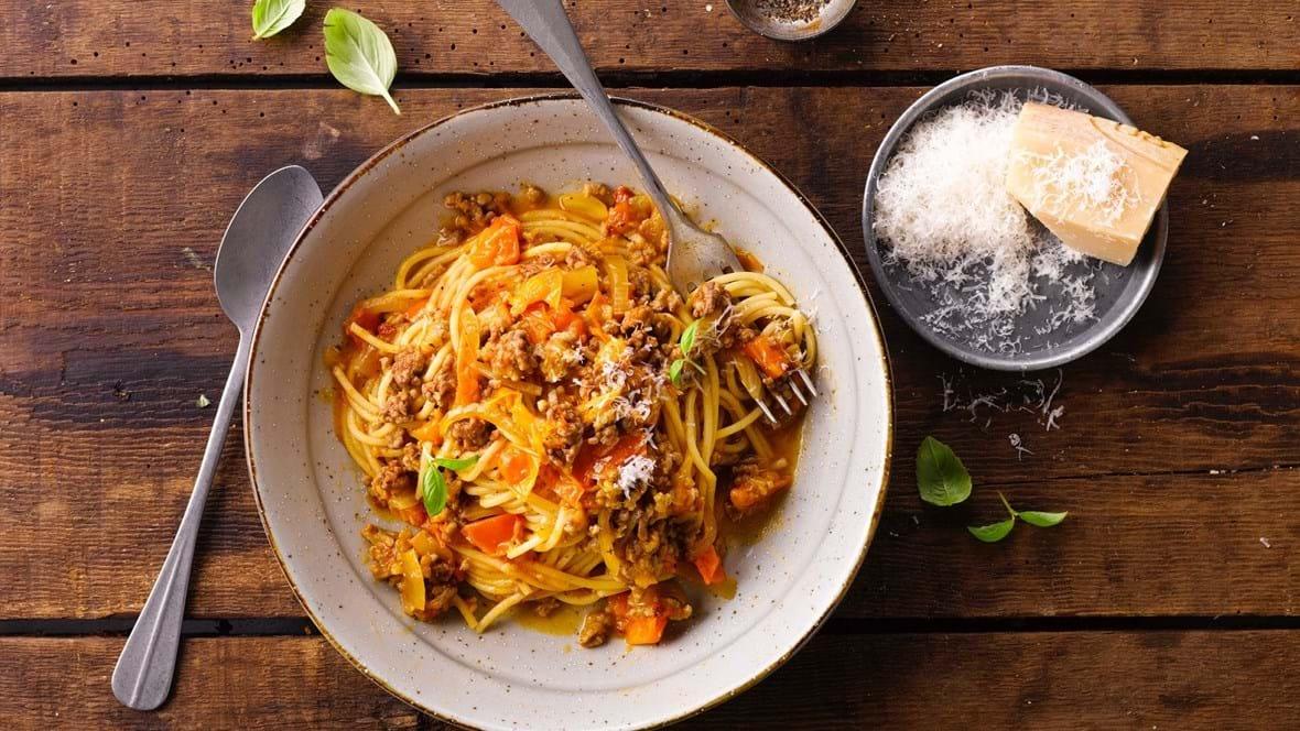 Klimavenlig spaghetti bolognese