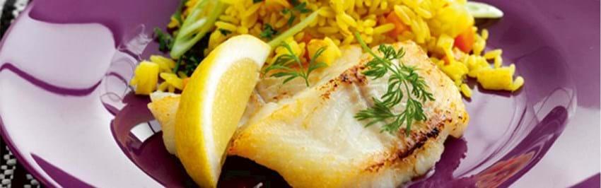 Stegt torsk med karryris