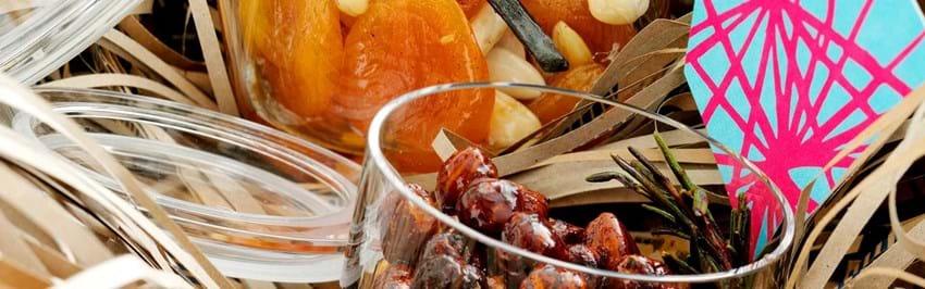 Syltede hasselnødder og abrikoser