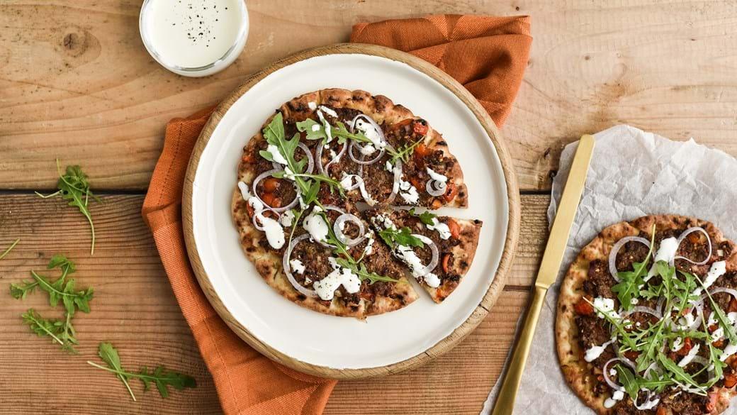 Mellemøstlig pitapizza