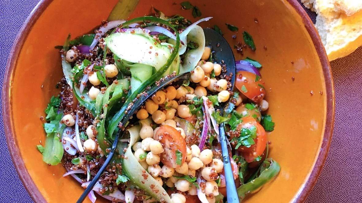Tabbouleh med quinoa og kikærter
