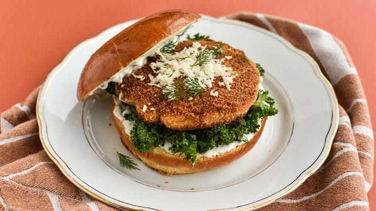 Fiskeburger med tatarsauce