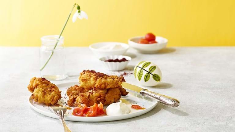 Dybstegt kylling med yoghurt og syltede tomater