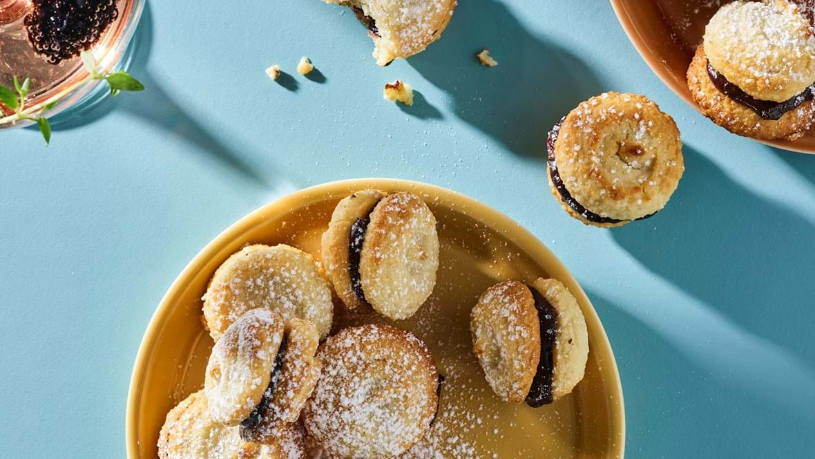 Kransekage-macarons med chokoladecreme