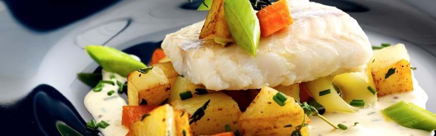 Ovnbagt torsk med sennepssauce - se her