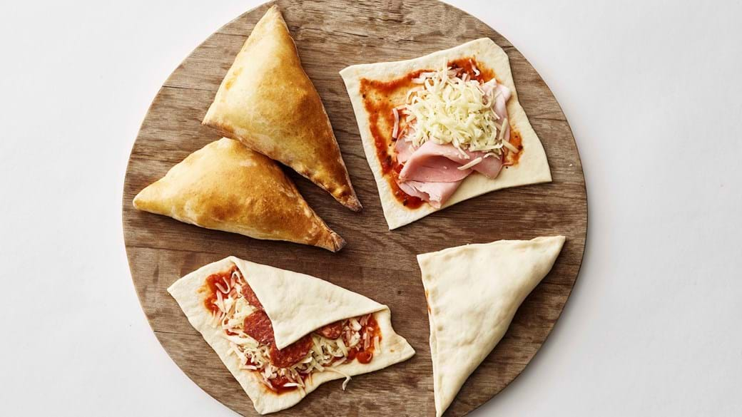 Hurtige pizzatrekanter