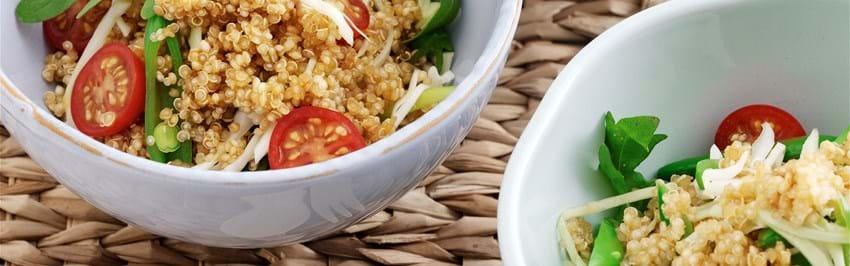 Quinoa salat med sojamarinade