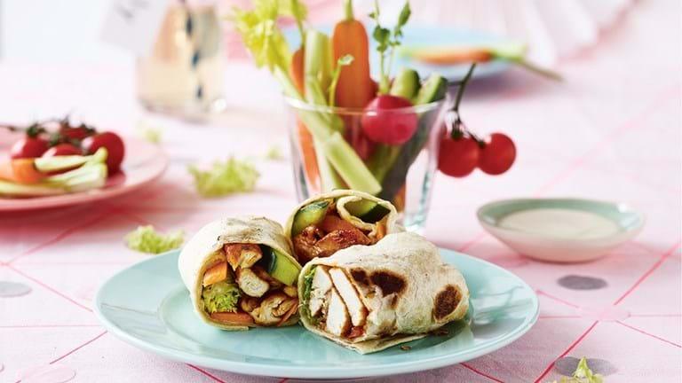 Shawarmawraps og snackgrønt