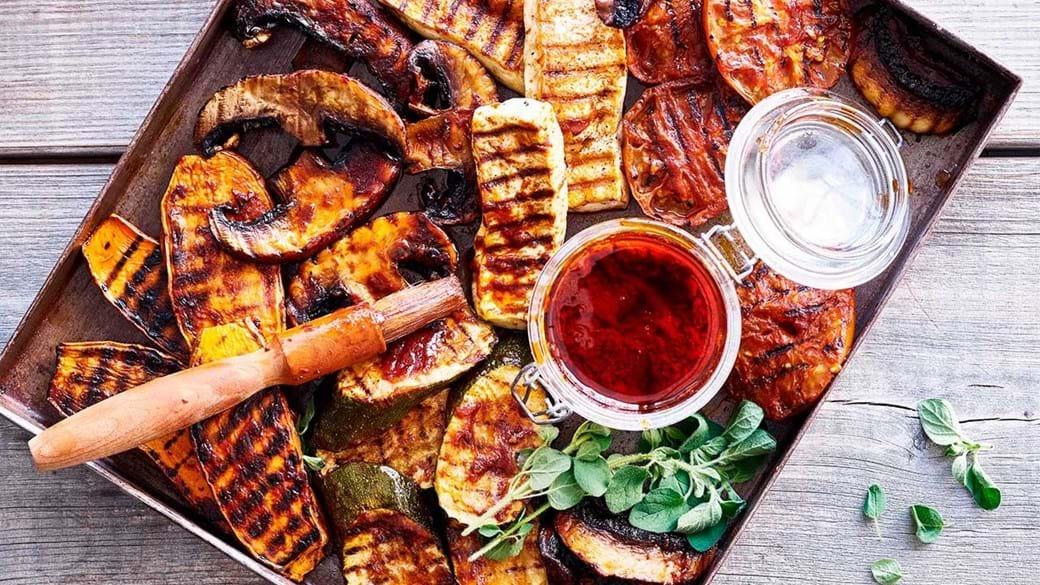Grillede barbecue-grøntsager