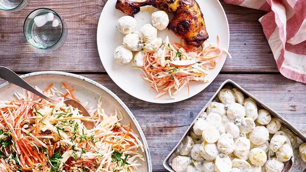 Den bedste kartoffelsalat & coleslaw