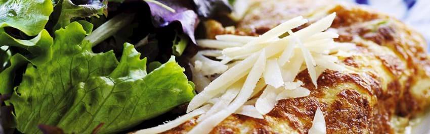 Omelet med grøntsager