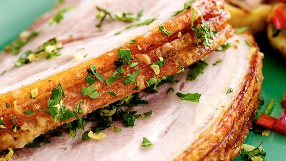 Grillet ribbensteg, peberfrugt og kartofler
