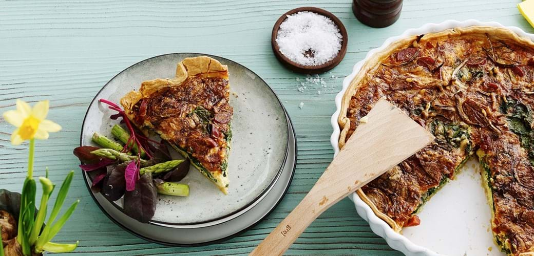 Tærte med chorizo