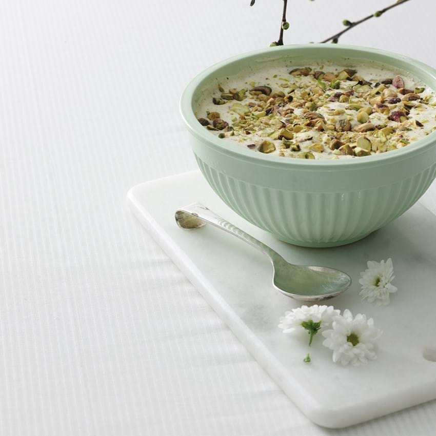 Hjemmelavet is med pistacie