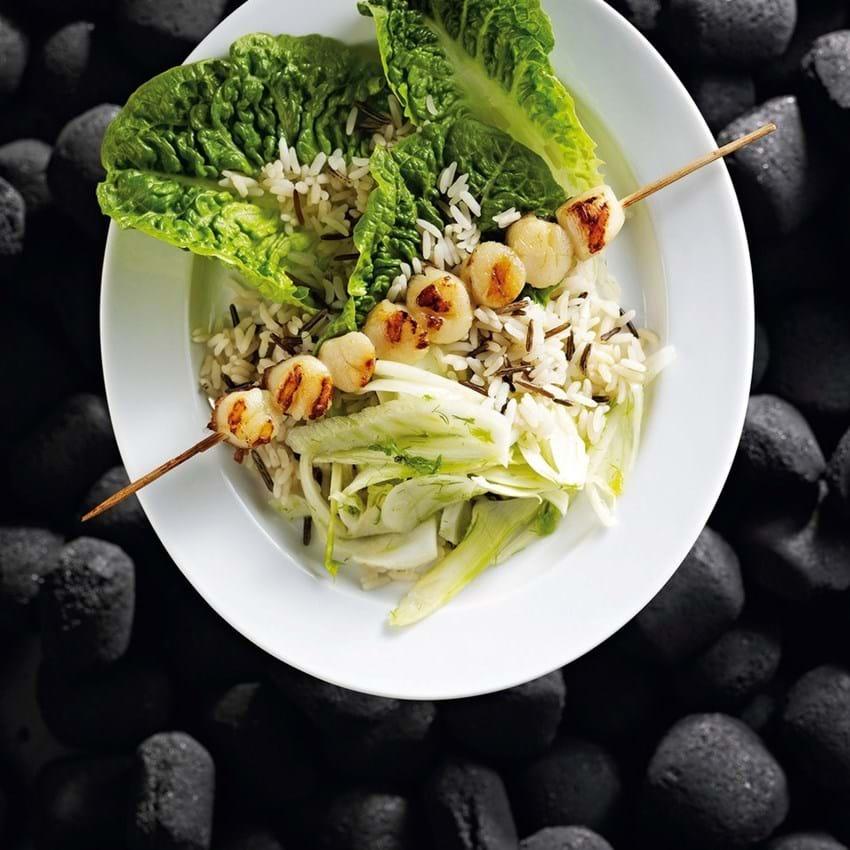 Kammuslinger med fennikelsalat