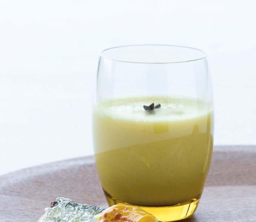 Majssuppe i glas