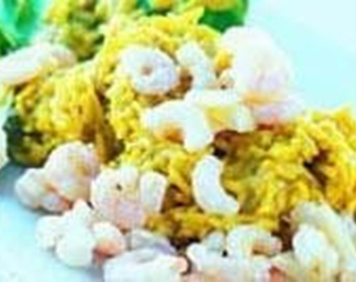 Stegte rejer med ris og kokosmælk