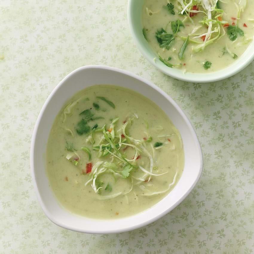 Kokossuppe med spidskål