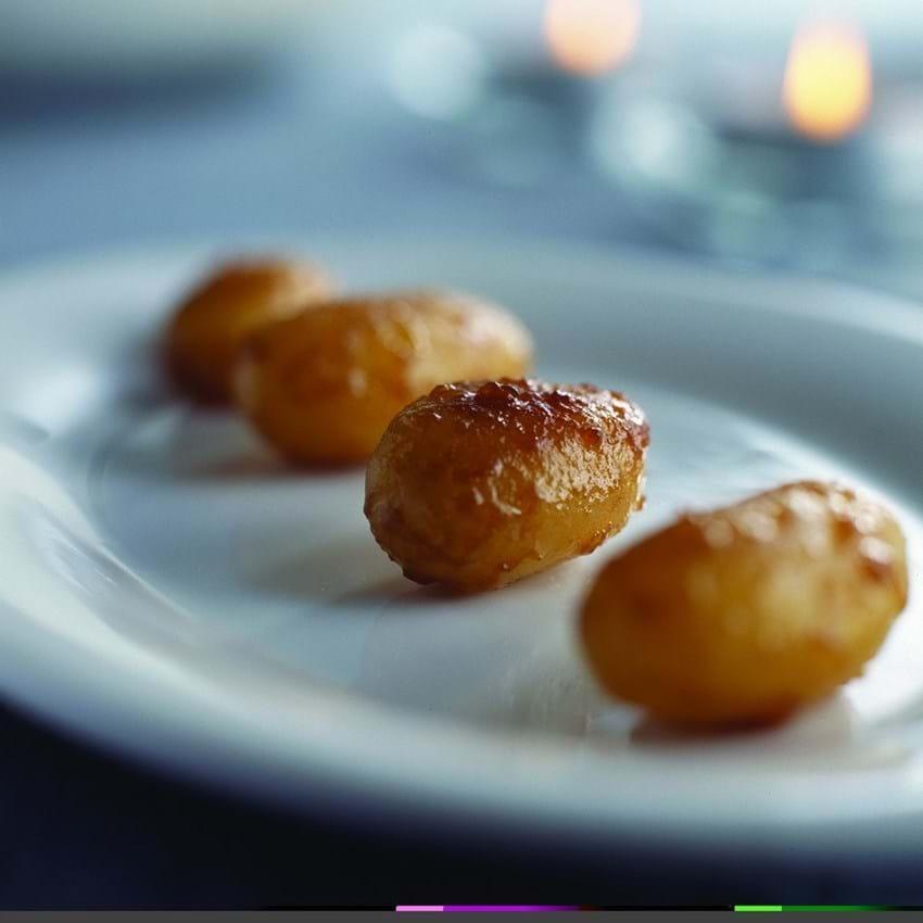 Brunede kartofler på japansk