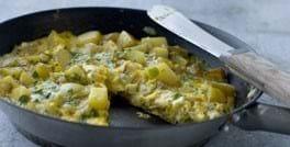 Kartoffel- og urteomelet