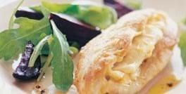 Kyllingebryst med feta og bagte rødbeder