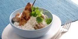 Indisk kylling på spyd