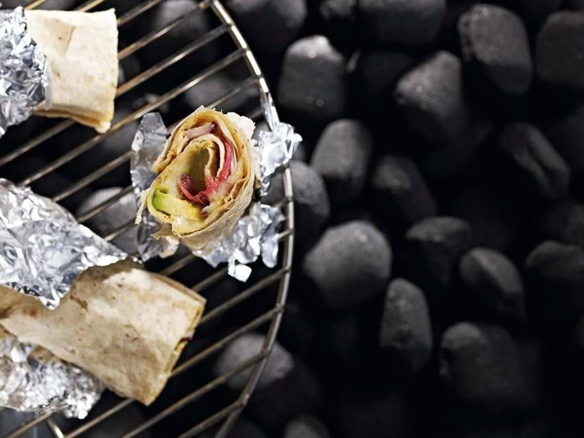 Tortillaruller med ost og grøntsager