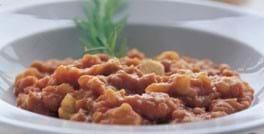 Ragout af bønner med kartofler og chili