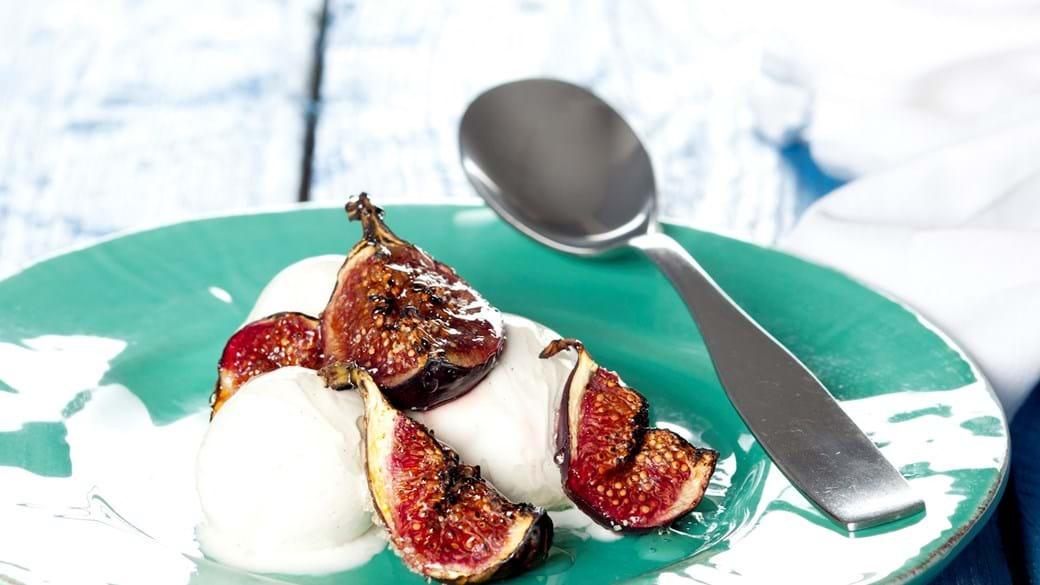 Bagte figner til vaniljeis