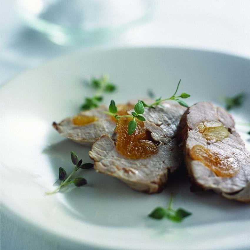Svinemørbrad med abrikoser