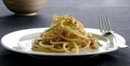 Spaghetti med tuncreme