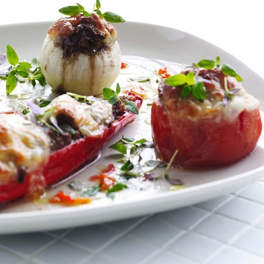 Farserede grøntsager