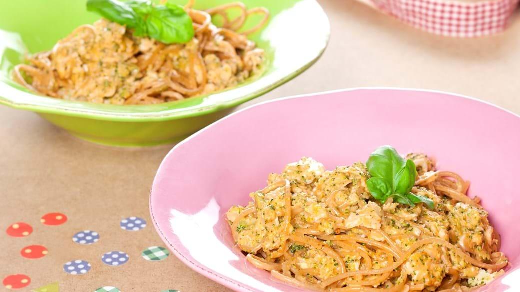 Broccoli- og blomkåls couscous og pasta