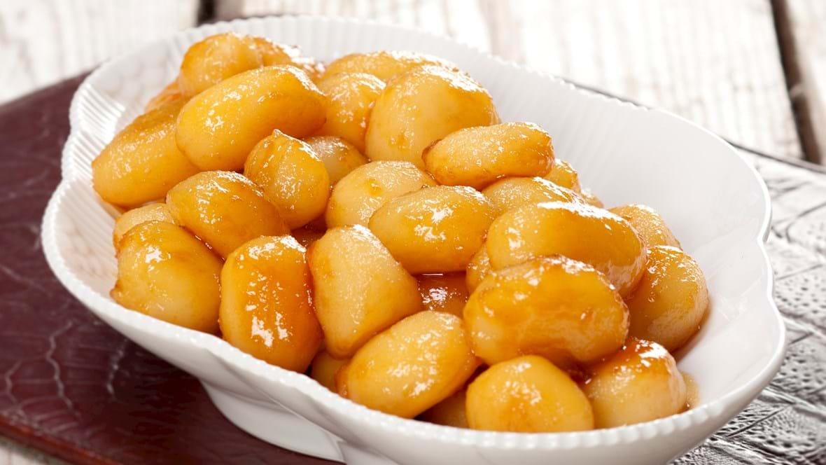 Brunede kartofler fra glas