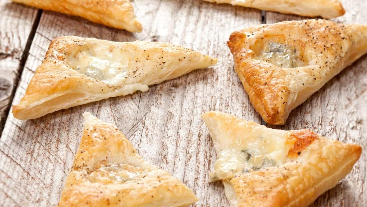 Butterdejssnitter med blå ost