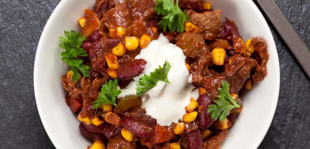 Chili con carne (skært kød)