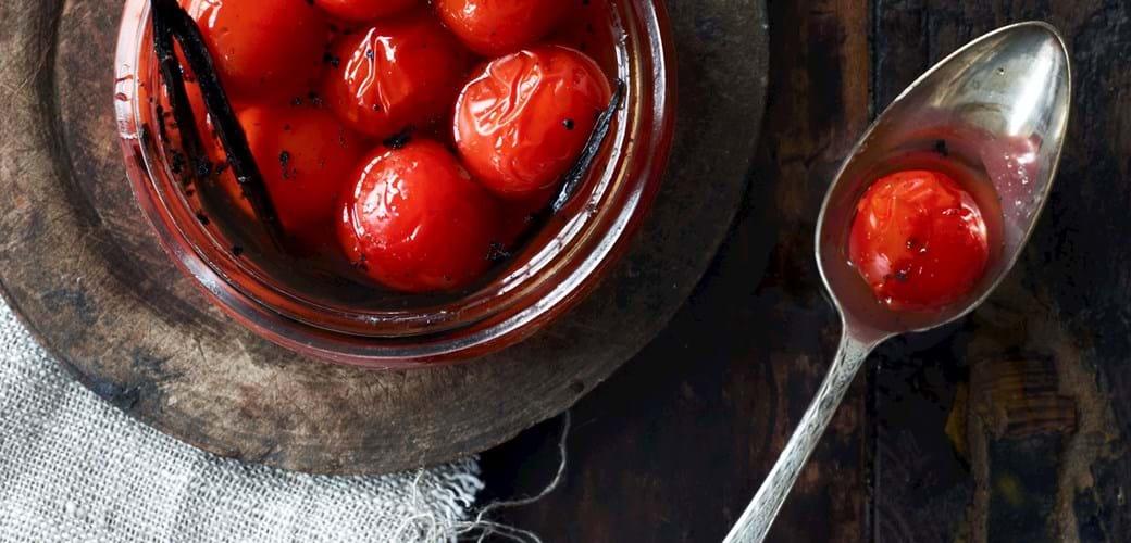 Vaniljesyltede tomater